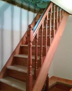 Balaustrada y escalera
